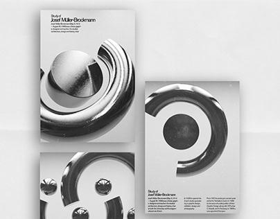 3D Renders of Josef Müller-Brockmann posters