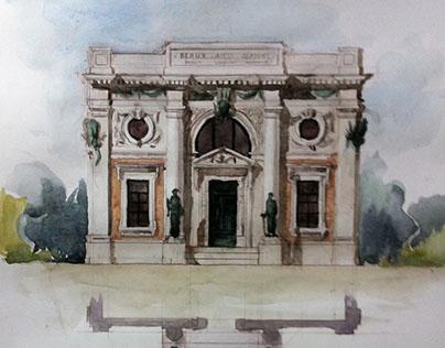 Facade Esquisse, Beaux-Arts Academy