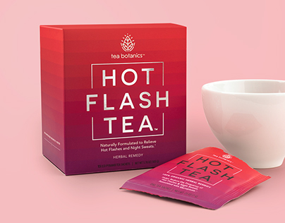 Tea Botanics Hot Flash Tea - Package Design & Branding