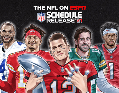 NFL on ESPN - 2021 Schedule Release illustrations