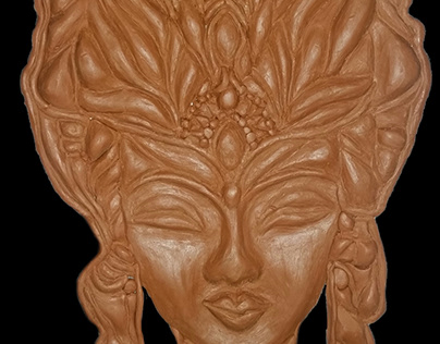 sculpting a relief face