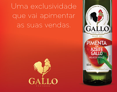 Pimenta com Azeite Gallo