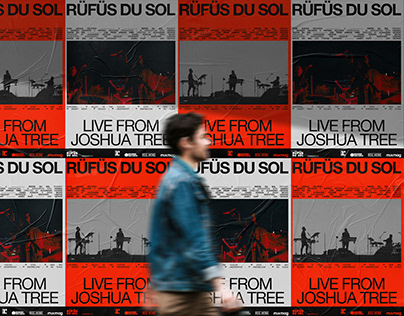 """RÜFÜS DU SOL: LIVE FROM JOSHUA TREE"" Artwork Concepts"