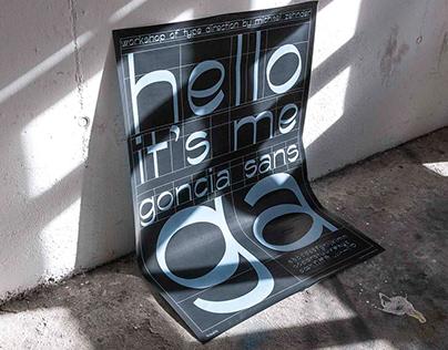 Goncia Sans Typeface Poster Design