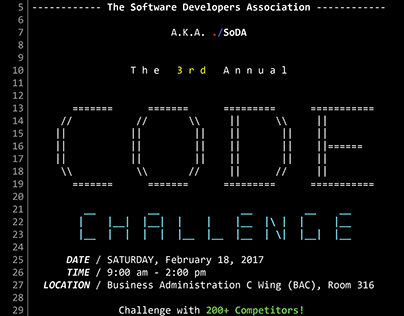 The 3rd SoDA Code Challenge: Sponsorship Information