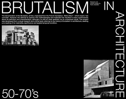 Brutalism in Architecture (50-70s)