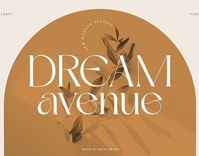 Dream Avenue | Modern Classic Font