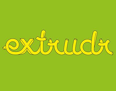 Extrudr Logo Design