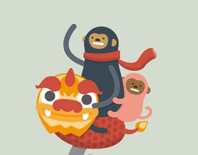 Chinese New Year Postcard - Monkey