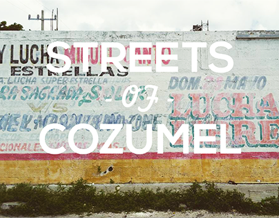 The streets of Cozumel