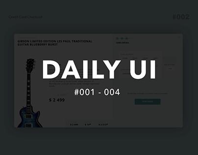 Daily UI #001-004