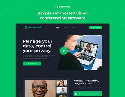 UI/UX Design website for Greenrooms
