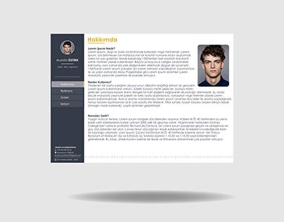 Portfolio UI Web Tema