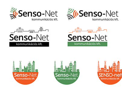 Senso-net logo variations