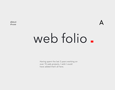 Web Folio - 2016 to 2017 Portfolio of Web Design