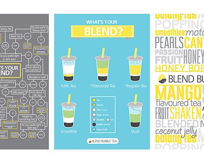 Blend Bubble Tea Poster Series