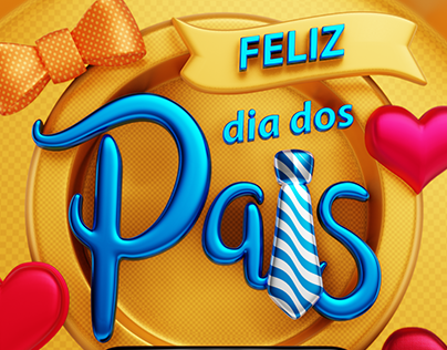 FREE PACK Elements 3D - Dia dos Pais