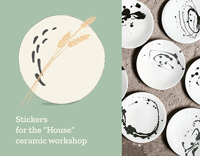 """Stickers for the """"House"""" ceramic workshop"""