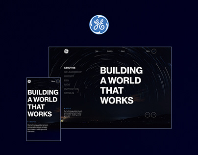 General Electric — Website redesign