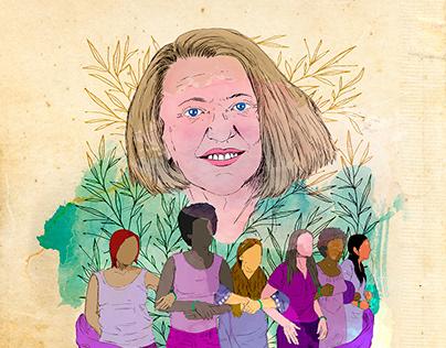 Nancy Fraser. Digital illustration.