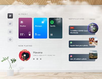 Future Home Dashboard Concept