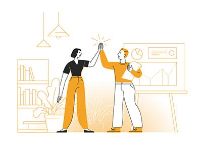 Teamwork illustrations