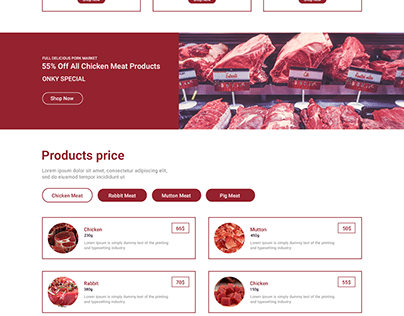 Chicken Landing Page PSD Template
