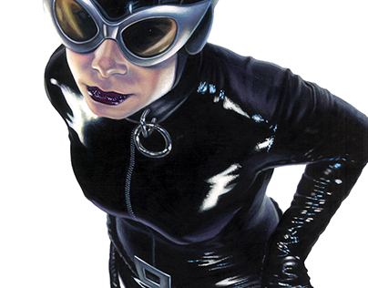 CATWOMAN: Acrylic Paintings