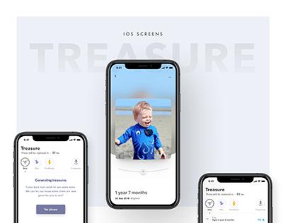 Treasure - IOS App UI/UX Design