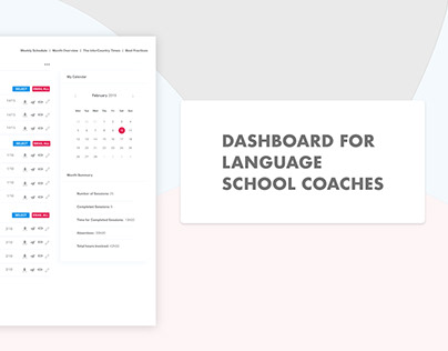 Dashboard for Language Coaches