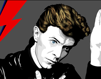 Poster for David Bowie's Memorial Concert on my city