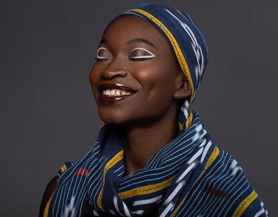 Hi-end retouch of dark-skinned woman