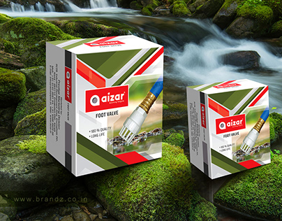 Aizer Pipes and Bathroom Fittings Product Box Design