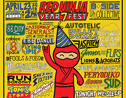 Red Ninja Year 7 Fest Final Poster