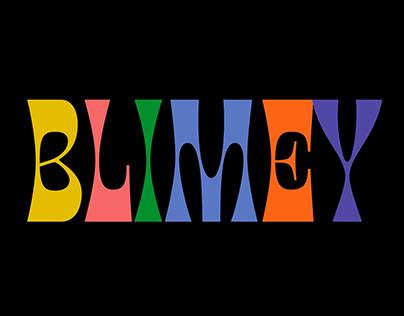 Blimey Typeface