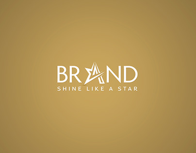 Star Letter A Logo Design