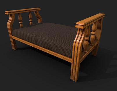 3D modeling a sofa
