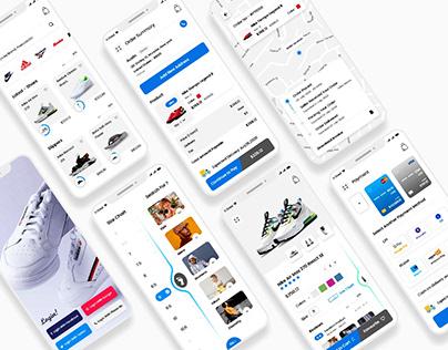 Footwear Online Shopping Mobile App UI Kit
