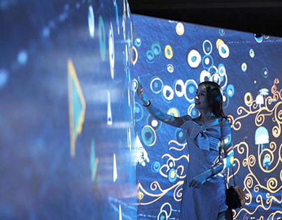'Klimt Exhibition' ~ Interactive Room Design