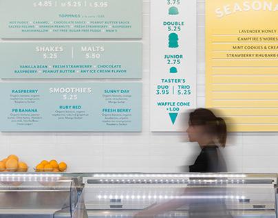 Menu Boards — Mitchell's Ice Cream