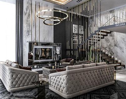 Private Villa Living & Dinning