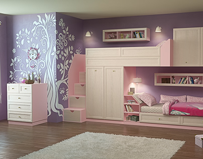 visualization of children's furniture for the catalog