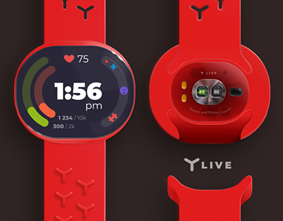 Y live wearable health and fitness tracker + UI and app
