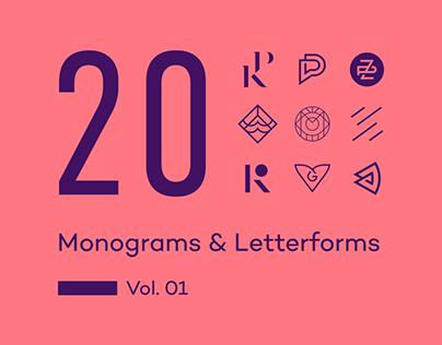 20 Monograms & Letterforms. Vol. 01