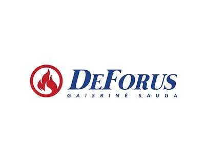 """""""DeForus"""" fire safety logo"""