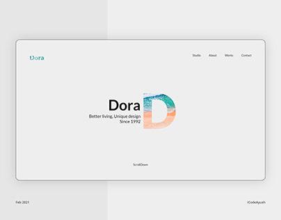 Dora (Golden Ratio Grid) (Architecture Website Concept)