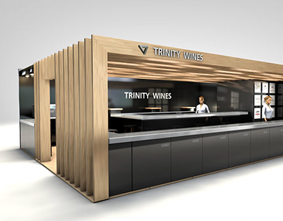 Exhibition booth design for Trinity Wines
