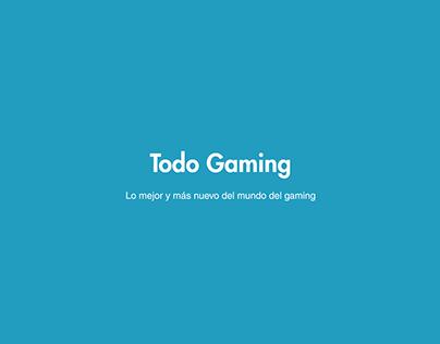 """Página Web """"Todo Gaming"""""""