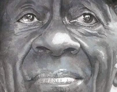 portrait of Chuck Berry