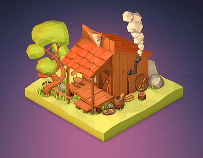 Low Poly Trapper Home
